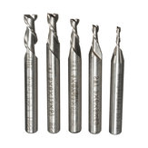 5pcs 2 Flute 2/3/4/5/6mm 6mm Shank Milling Cutter HSS End Mill CNC Engraving Bit
