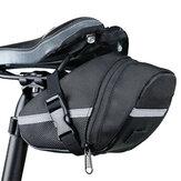 Selim da bicicleta de lona Bolsa Bicicleta leve Bolsa Cauda de ciclismo Bolsa Armazenamento Bolsa
