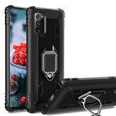 Bakeey til Samsung Galaxy Note 20 Ultra / Galaxy Note20 Ultra 5G Taske Kulfibermønster Armor Stødsikker Anti-fingeraftryk med 360 ° rotation Magnetisk ringbeslag PC-beskyttelsesetui