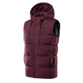 Cappotto con cappuccio giacca invernale riscaldata elettrica riscaldata unisex USB M-7XL