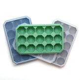 15 Griglia Diamond Ice Tray Silicone Set di stampi per ghiaccio impilabili quadrati da cucina per accessori per la cucina di casa