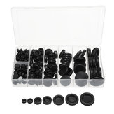 170Pcs Rubber Sealing Ring Black Grommets Gasket Assortment Kit O Ring With Plastic Box