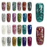 24 Colores Brillante Diamante Holo Extender Gel UV Extensión Nail Art Glue Manicure