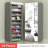 Scaffale per scarpe a 10 piani Armadio con mensola a muro Organizzatore Magazzino Scatola Supporto