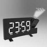 Radyo Projeksiyon Alarmı Saat Büyük Ekran LED Ekran Elektronik Saat Kavisli Çift Alarm Saat