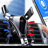 Jellico HO95 Rotação 360 ° Car Air Ventilador Gravity Linkage Clip Mount Telefone móvel Stand Holder no carro para iPhone 12 POCO X3 NFC