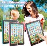 جهاز كمبيوتر لوحي وردي / أزرق للأطفال أداة تعليمية تعليمية للعب الأطفال