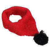 Winter Wolle Kinder Kragen Schal gestrickt Kragen mit Ball Neckerchief Bekleidung Accessoires