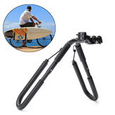 BIKIGHT Move By Bike Adjustable Black Aluminum Surfboard Rack Bicycle Surfboard Rack