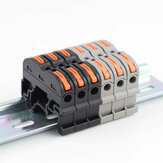 1Pcs SPL-1 PCT-211 Rail Type Quick Connector Press Type Connector Instead of UK2.5B 32A Terminal Block 0.08-4mm²