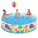 183*38cm Home Backyard Outdoor Kids Family Swimming Air Mattress Pool Water Fun Play Center