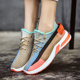 Frauen Colorful Mesh Cloth Atmungsaktive Laufschuhe