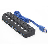 Bakeey 7 Port USB 3.0 Hub 5 Gbit / s Datenübertragung 2.4A Dockingstation mit Stromausgang