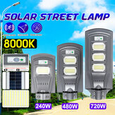 240W 480W 720W LED Street Light Grey Shell 2835 Lampe solaire PIR Motion Radar Sensor Waterproof Garden Lighting
