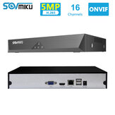 SOVMIKU SFNVR H.265 16CH 5MP CCTV NVR Mootion Detect CCTV Network Video Recorder ONVIF P2P For IP Camera 4MP/3MP/2MP Security System