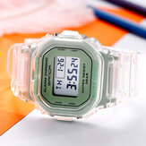 SANDA 2009 Transparent Strap Fresh Color Fashion Luminous Display Stopwatch Coupole Digital Watch