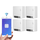 4pcs SONOFF MiniR2 Two Way Smart Switch 10A AC100-240V Works with Amazon Alexa Google Home Assistant Nest Supports DIY Mode Allows to Flash the Firmware