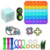 19/28 adet Fidget Kabarcık Oyuncaklar Duyusal Set DIY Yetişkinler için Dekompresyon Artefakt Kız Çocuk İfade Emotion Stres Rölyef Antistres Oyuncaklar