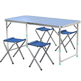 Foldable Chair and Desk Set Portable Aluminum Picnic Table and Chair Outdoor Night Market Stalls Supplies
