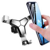 BakeeyметаллGravityLinkageAutomaticЗамок Air Vent Авто Держатель телефона для смартфонов 4.0-7.0 дюймов