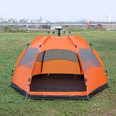 Tente de plage automatique extérieure abri solaire UV Protection 5-8 personnes tente familiale pour le camping