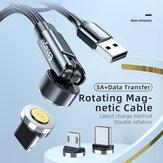 Essager 540 Поворотный магнитный кабель для передачи данных 3A USB Type-C Линия быстрой зарядки для OnePlus 8Pro 8T Huawei P30 P40 Mate 40 Pro