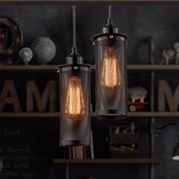 E27 Vintage Industrial Ceiling Lamp Edison Bulb Chandelier Pendant Lighting Fixture