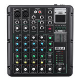 6-Kanal Bluetooth DJ HD Mic Audio Mixer Control LED Digitalanzeige Musik-Stream mit USB-Schnittstelle