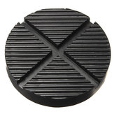 Black Rubber Car Truck Cross Slotted Frame Rail Floor Jack Disk Pad Adapter