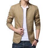 Slim Fit Stand Collar Zipper Wiosna Jesień Cotton Jacket dla