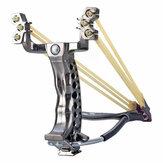 ABS Profesjonalne potężne procy 6-otworowa gumka Opaska na nadgarstek ze stali nierdzewnej Łuk myśliwski procy z kompasem Outdoor Camping polowanie