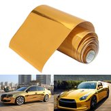10cmx150cm Altın Vinyl Wrap Film Araba Çıkartması Decal Air Bubble Free