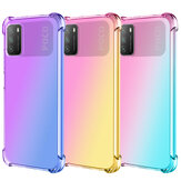 Bakeey for POCO M3 Case Gradient Color with Four-Corner Airbag Shockproof Translucent Soft TPU Protective Case