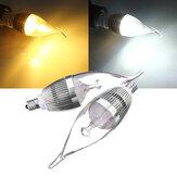 E12 4.5W 500-550lm regulável LED vela lâmpada prata ac 220v