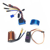 HSP Off-Road vozidla Brushless 3300/3930 / 4370KV RC Motor Motor 120A ESC Servo pro 1/8 1/10 RC auta