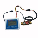 LCD Display Digital Flow Meter+Brass Flow Sensor Temperature Measuring YF-B7 Hall Sensor Meter Switch