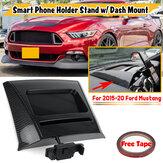 Карбоновая подставка для телефона Ford Mustang 15-20 с гравитационным держателем с точным креплением на приборную панель