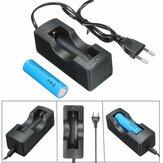 1Pcs 18650 batterij + oplader set, EU-stekker met stekkeradapter