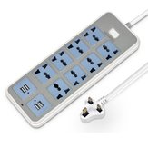 Porta USB 4 Way 8 Way Power Strip Tomada Multifuncional Tomadas Charger Plug Cord