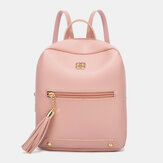 Women Fashion Pure Color Light Weight Large Capacity Backpack