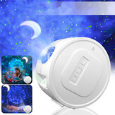 3 en 1 USB LED Galaxy Starry Night Light Sky Proyector Ocean Wave Star Lámpara