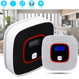 LCD Smoke Alarm CO Monoxide Detector Poisoning Gas Warning Sensor Monitor Voice