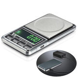 Bang god 1000g 0.1g USB Digital Pocket Opladning Scale Smykker Skala Balance Vægt Scale g / oz / ozt / dwt / ct / t / gn