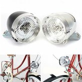 XANES LED Bike Bicycle Headlight Waterproof Vintage Retro Cycling Front Light Electric Motor