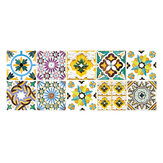 10 Pcs Morocco Tile Stickers Kitchen Bathroom Sticker Home Wall Decor Set
