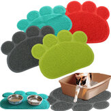 Pet Dog Puppy PVC Cat Dish Bowl Feeding Food Napperon Mat Wipe Clean Mat