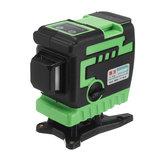 3D 12 خط ليزر مستوى أخضر / الأزرق ضوء السيارات الذاتي الإستواء 360 درجة الروتاري قياس