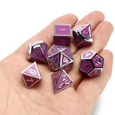 7 Pcs Multisided Dice Heavy Metal Polyhedral Dice Set Role Playing Games Dices with Bag