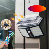 20W 360LED निविड़ अंधकार सौर लाइट मानव सेंसर आउटडोर उद्यान सुरक्षा दीवार लैंप + रिमोट कंट्रोल