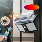 20W 360LED Impermeable Solar Humano ligero Sensor al aire libre Muro de seguridad para jardín Lámpara + Control remoto